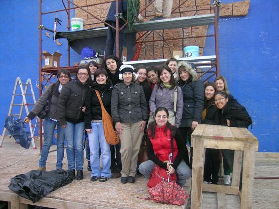 Con gli studenti dell'Accademia di Belle Arti di Catania
