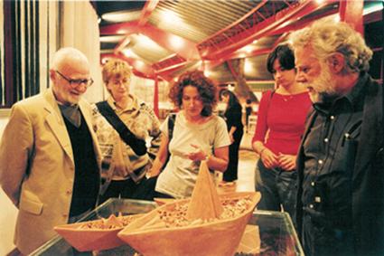 Foto con M. Monicelli e S. Staino, anno 2000