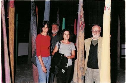 Nella Foresta di Nasi insieme a Giulia, Mario Monicelli e Sergio Staino,  Collodi