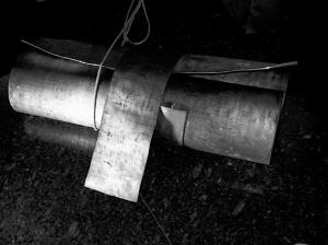 Cartiglio, piombo cm 70x100