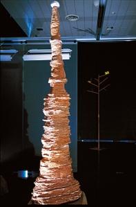 Libro di Terra, terracotta, h. cm 300