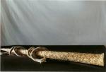 Naso e serpente, refrattario con ossidi, cm 88