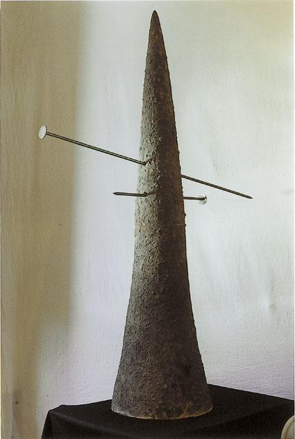 Il Naso, refrattario, ossidi e ferro, h. cm 140