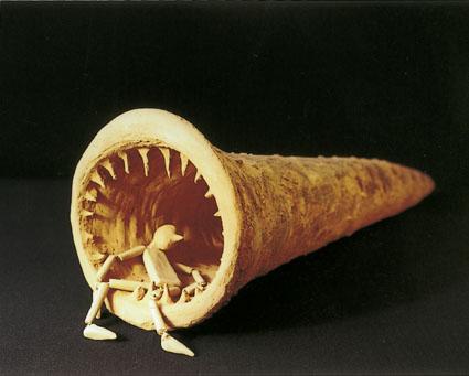 Naso balena, refrattario con ossidi, cm 65 - Ø cm 22